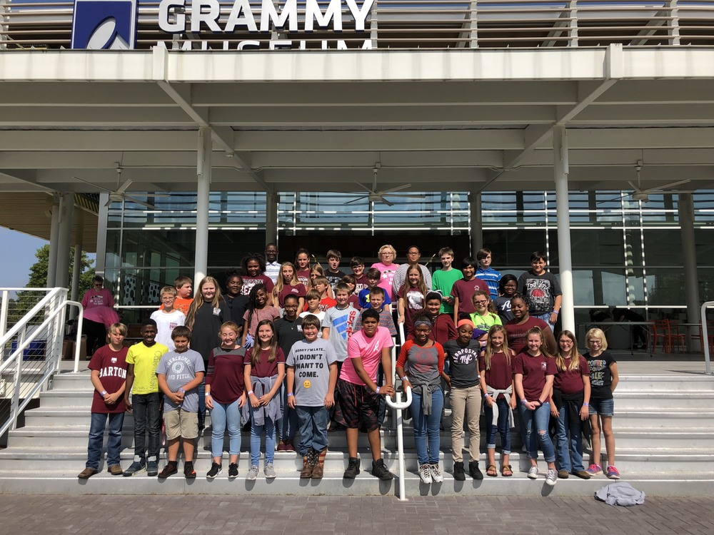 6th grade Grammy Museum Field Trip