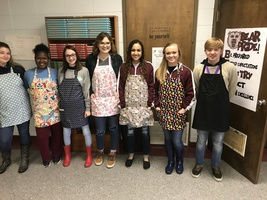Family & Consumer Science Students Sewing Projects