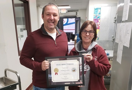 Cafeteria Supervisor Receives Child Nutrition Director Certification