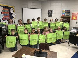 2nd Graders Receive Farm Credit Backpacks