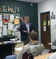 Mayor Visits Civics Class